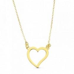 Gargantilla oro 18k corazón 45cm. 13mm. [AB2904]