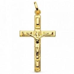 Cruz oro 18k Cristo hueca 28mm. [AB2918]