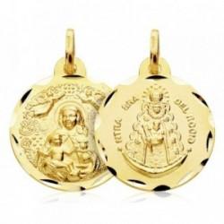Medalla oro 18k Virgen del Rocío 18mm. [AB2993]