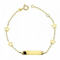 Esclava oro 18k estrellas 14cm. 1,85gr. [AB3195]