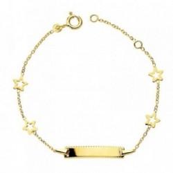 Esclava oro 18k estrellas 14cm. 1,85gr. [AB3195GR]