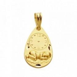 Medalla oro 9k óvalo bebé bajo reloj 19mm. 1,00gr. [AB3278]