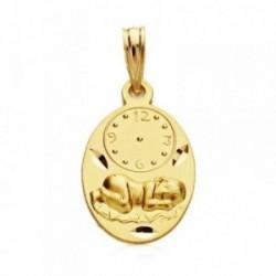 Medalla oro 9k óvalo bebé bajo reloj 19mm. 1,10gr. [AB3279]