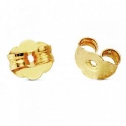 Fornitura oro 18k flor presión. 1 unidad [AB3289]