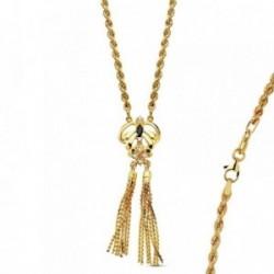 Colgante cordón oro 18k india piña 50cm. 16,75gr.  [AB3378]
