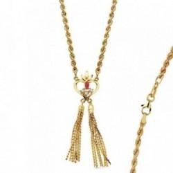 Colgante cordón oro 18k india corazón 50cm. 16,75gr.  [AB3379]