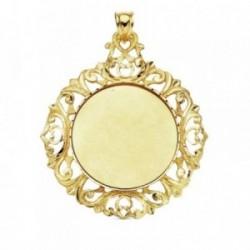 Medalla oro 18k disco liso tallado 47mm. 8,80gr. [AB3381GR]