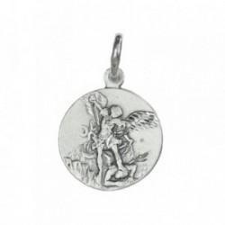 Medalla colgante plata ley 925m San Miguel 18mm. [AB3480GR]