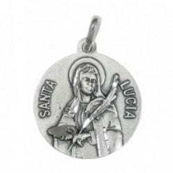 Medalla colgante plata ley 925m Santa Lucía 20mm. [AB3482]