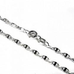 Cadena plata Ley 925m 40 cm. lumina 0,50 mm. lisa [AB3489]