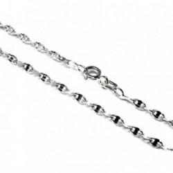 Cadena plata Ley 925m 60 cm. lumina 0,50 mm. lisa [AB3519]