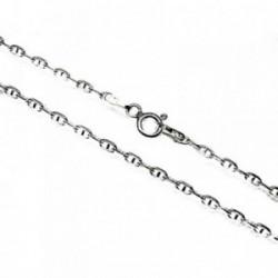 Cadena plata Ley 925m 40 cm. forzada marina 0,50 mm. lisa [AB3523]