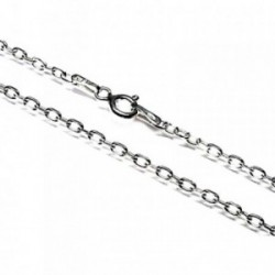 Cadena plata Ley 925m 50 cm. forzada 0,50 mm. lisa [AB3527]