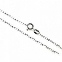 Cadena plata Ley 925m 45 cm. rolo 0,25 mm. [AB3544]