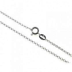 Cadena plata Ley 925m 50 cm. lisa 0,25 mm. [AB3545]