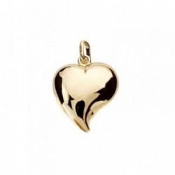 Colgante oro 9k corazón liso 17mm. [AB3651]