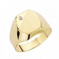 Sello oro 9k cadete circonita tallado [AB3661]