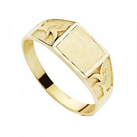 Sello oro 9k cadete tallado  [AB3663]