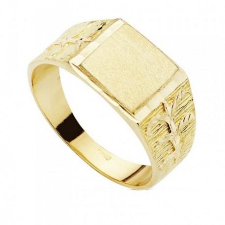 Sello oro 9k caballero tallado [AB3665]