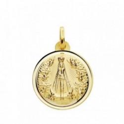Medalla oro 18k Señora de Begoña 18mm. [AB3714]
