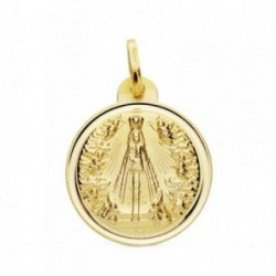 Medalla oro 18k Señora de Begoña 20mm. [AB3715]