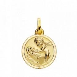 Medalla oro 18k Ángel de la Guarda 15mm. [AB3761]