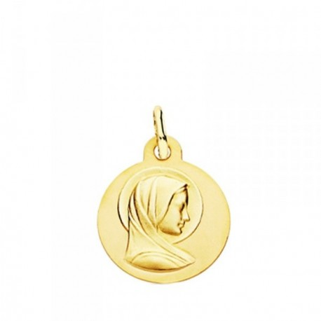 Medalla oro 18k María Francesa 14mm. [AB3762GR]