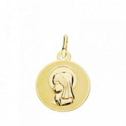 Medalla oro 18k Virgen Niña 14mm. [AB3773GR]