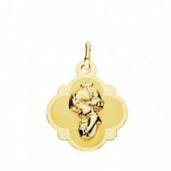 Medalla oro 18k Virgen Niña 19mm. [AB3778]