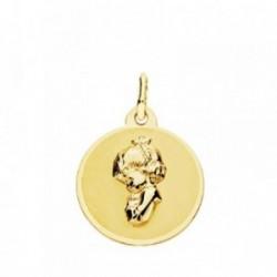 Medalla oro 18k Virgen Niña 16mm. [AB3779]