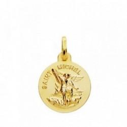 Medalla oro 18k San Miguel 14mm. [AB3790]