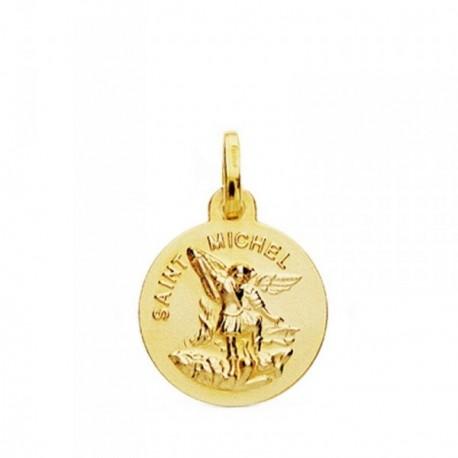 Medalla oro 18k San Miguel 14mm. [AB3790GR]