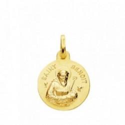 Medalla oro 18k San Benito 14mm. [AB3791]