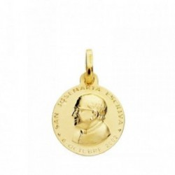 Medalla oro 18k San Jose María Escrivá 14mm. [AB3793]
