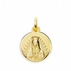 Medalla oro 18k Virgen Guadalupe 16mm. [AB3799]