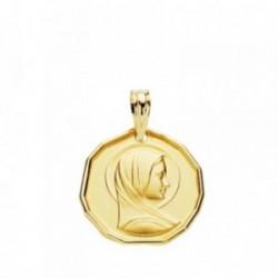 Medalla oro 18k María Francesa 16mm. [AB3807GR]