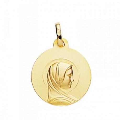 Medalla oro 18k María Francesa 18mm. [AB3822]