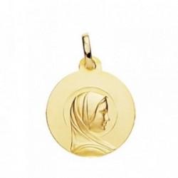 Medalla oro 18k María Francesa 18mm. [AB3822GR]