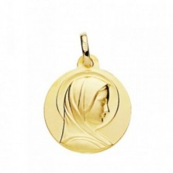 Medalla oro 18k María Francesa 18mm. [AB3823]