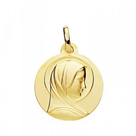 Medalla oro 18k María Francesa 18mm. [AB3823GR]