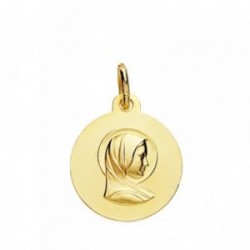 Medalla oro 18k María Francesa 16mm. [AB3830]
