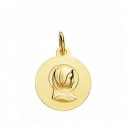 Medalla oro 18k María Francesa 16mm. [AB3830GR]