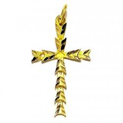 Cruz crucifijo oro lapidada [466]