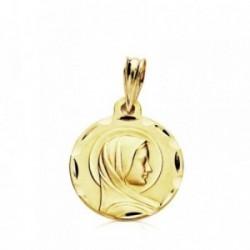 Medalla oro 9k Virgen María Francesa 14mm. ligera [AB3242GR]
