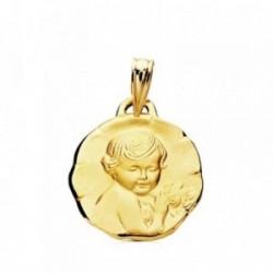 Medalla oro 9k niño de la flor 15mm. bebé
