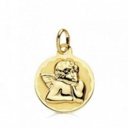 Medalla oro 9k Ángel burlón 14mm. bebé