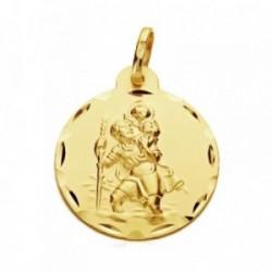 Medalla oro 9k San Cristobal 22mm. [AB3277GR]