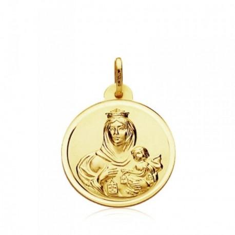 Medalla oro 9k Virgen del Carmen 20mm. [AB3283GR]