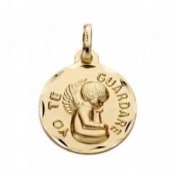 Medalla oro 9k -yo te guardaré- 16mm. [AB3284GR]