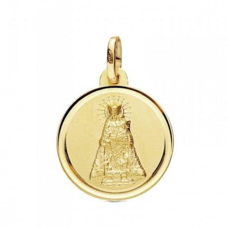 Medalla oro 18k Virgen Desamparados 18mm. [AB3369GR]